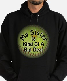 Sister Big Deal Softball Hoodie (dark)