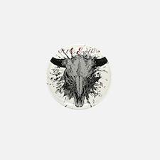 soul ink bull skull Mini Button