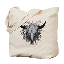 soul ink bull skull Tote Bag