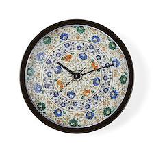 Pietra_dura_Plate_Taj_Mahal_green Wall Clock