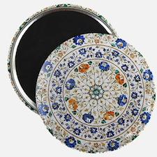 Pietra_dura_Plate_Taj_Mahal_green Magnet