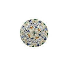 Pietra_dura_Plate_Taj_Mahal_green Mini Button
