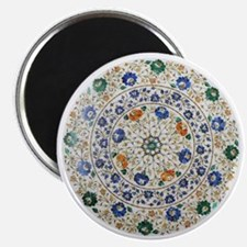 Pietra_dura_Plate_Taj_Mahal_Transparent Magnet