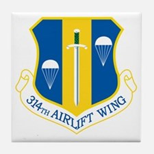 314th Airlift Wing Tile Coaster
