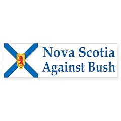Nova Scotia Against Bush (bumper sticker)