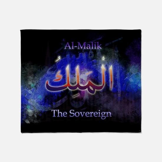 Al-Malik_black Throw Blanket