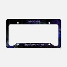 Al-Malik_black License Plate Holder