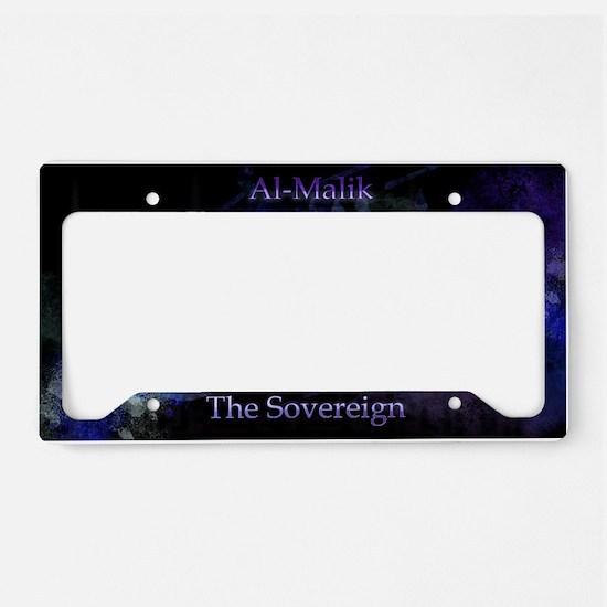 Al-Malik_black License Plate Holder