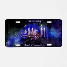 Al-Malik_black Aluminum License Plate