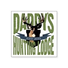 "HuntingDad Square Sticker 3"" x 3"""