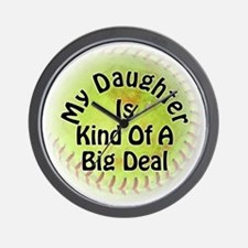 Daughter Big Deal Softball Wall Clock