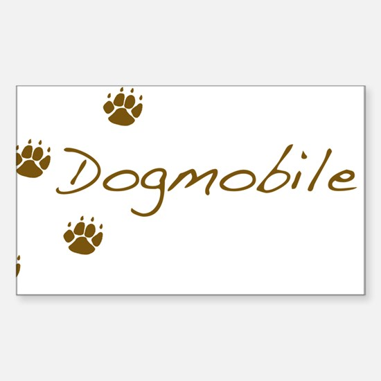 dogmobile Sticker (Rectangle)