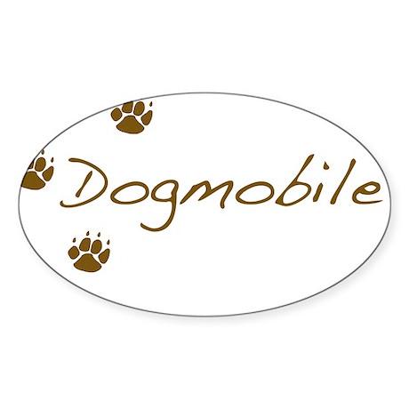 dogmobile Sticker (Oval)