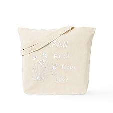 japan faith hope white Tote Bag