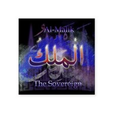 "Al-Malik_smallblack Square Sticker 3"" x 3"""