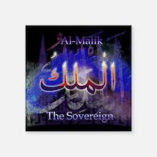 "Al-Malik_smallblack Square Sticker 3"" x 3"""