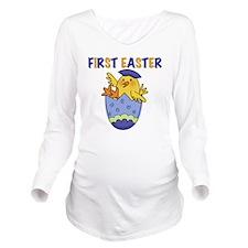 eggchickfirsteaster Long Sleeve Maternity T-Shirt
