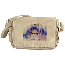 Al-Malik_smallwhite Messenger Bag