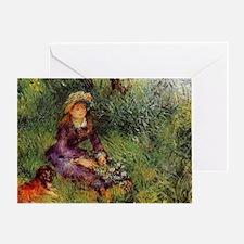 CALrenoirmadamerenoirdog Greeting Card