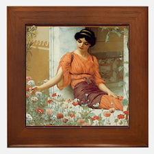CALsummerflowers Framed Tile