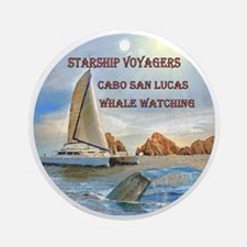 STARSHIP VOYAGERS Cabo  San Lucas W Round Ornament