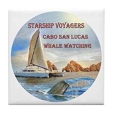 STARSHIP VOYAGERS Cabo  San Lucas Wha Tile Coaster
