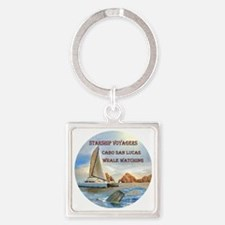 STARSHIP VOYAGERS Cabo  San Lucas  Square Keychain