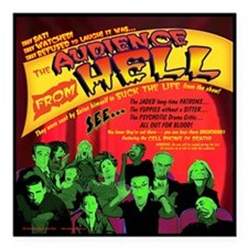 "Hell-Audience-52x66 Square Car Magnet 3"" x 3"""