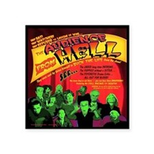 """Hell-Audience-52x66 Square Sticker 3"""" x 3"""""""