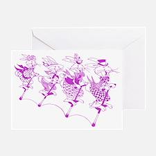 PurpleBunnies_4Black Greeting Card