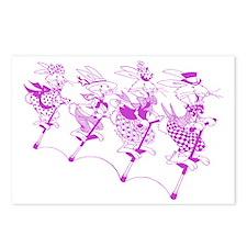 PurpleBunnies_4Black Postcards (Package of 8)