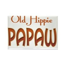OLD HIPPIE PAPAW Rectangle Magnet