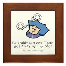 daddy-cop Framed Tile