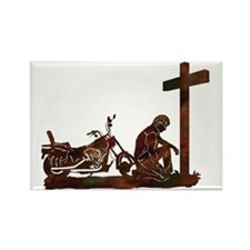 biker prayer Rectangle Magnet