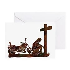 biker prayer Greeting Card