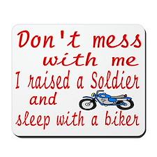 dont mess biker Mousepad