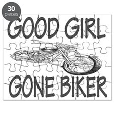 good girl biker Puzzle