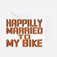 HAPILLY MARRIED Greeting Card