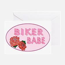BIKER BABE Greeting Card