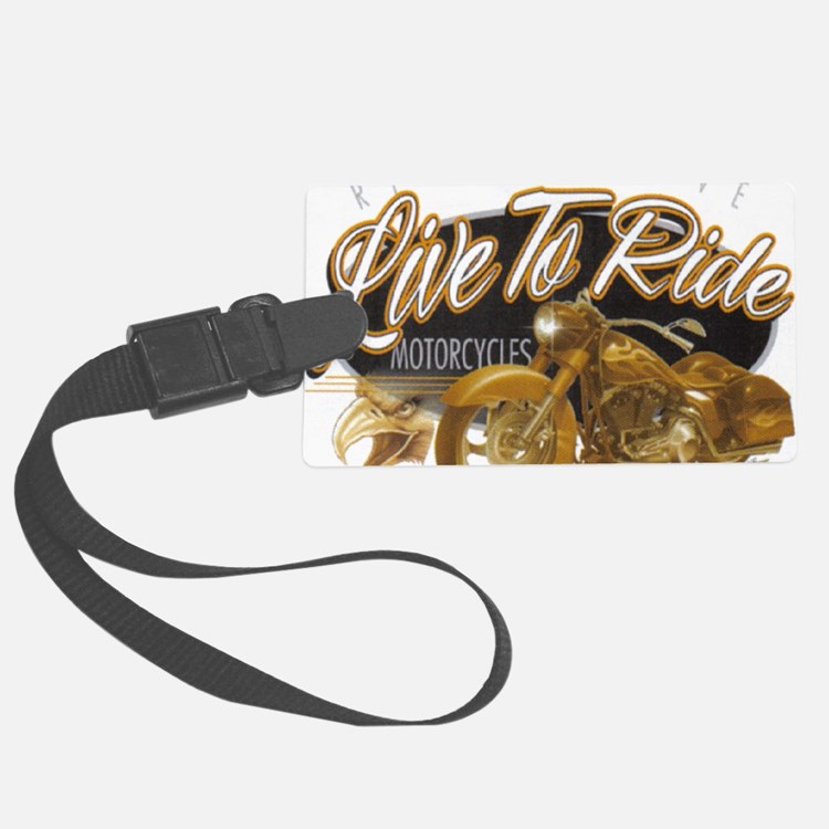 live to ride Luggage Tag