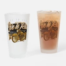 live to ride Drinking Glass