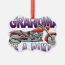 GRANDMA BIKER Ornament