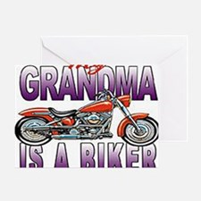 GRANDMA BIKER Greeting Card