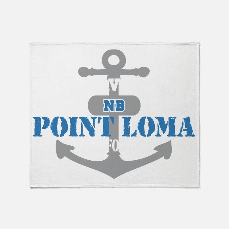 CA Point Loma 2 Throw Blanket