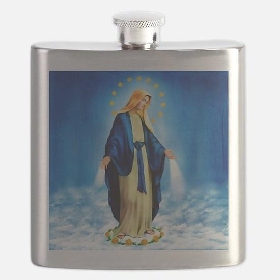 MilagrosaWoodZazzle Flask