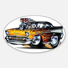 57chevBLACKFLAME Sticker (Oval)