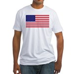 American US Flag Fitted T-Shirt