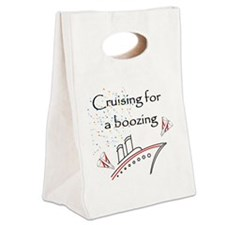 Cruising4aBoozing Canvas Lunch Tote