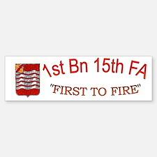 1st Bn 15th FA cap1 Bumper Bumper Sticker