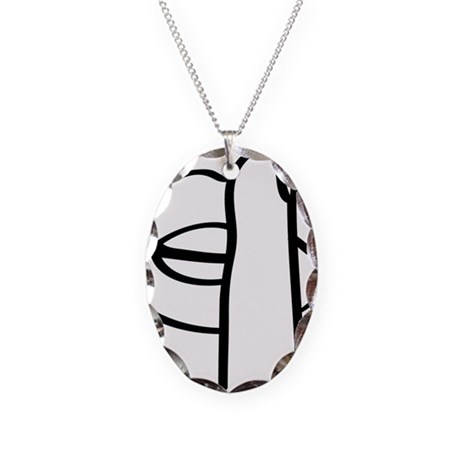 Untitled-1 Necklace Oval Charm